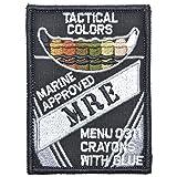 Tactical Color Crayons Approved MRE - 2.5x3.5 Patch - Multiple Colors (Black) (Color: Black)