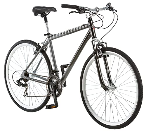 Schwinn Capitol 700c Men's 18 Hybrid Bike, 18-Inch/Medium, Grey