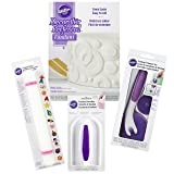 Wilton Fondant Tool Set for Beginners, 10-Piece - White Fondant with Roller, Trimmer, and Smoother (Tamaño: 10-Piece)
