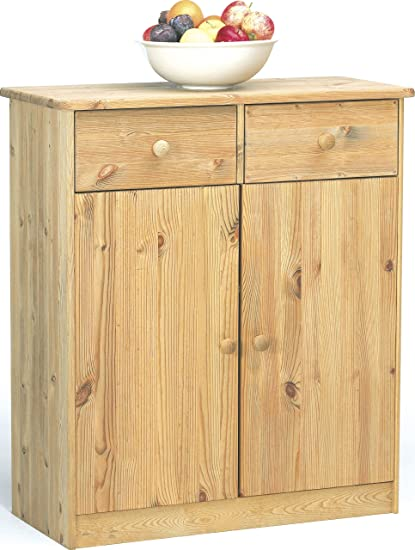 Steens 1780270130 Highboard Mario 89 x 78 x 35 cm Kiefer massiv, gelaugt geölt