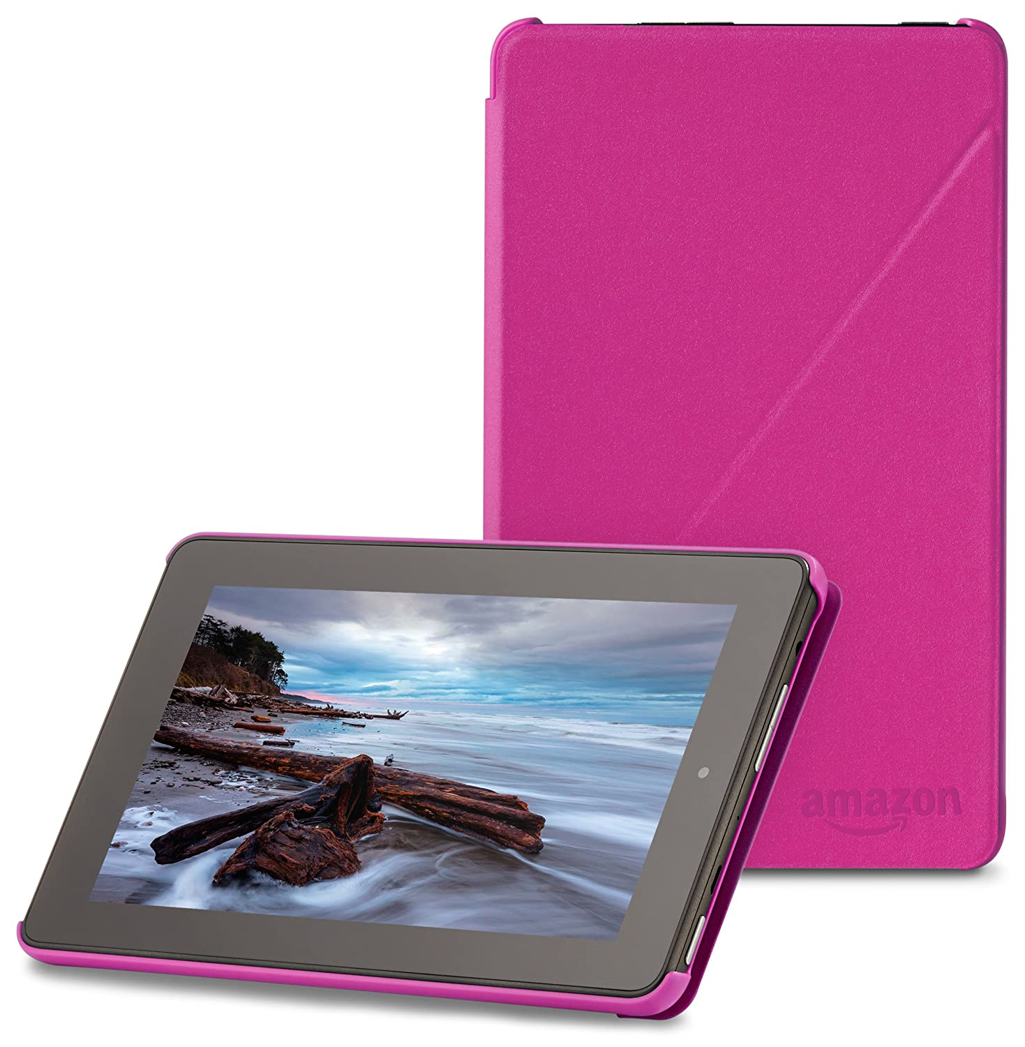 "Amazon Fire 7"" (2015 release) Case - Slim Lightweight Standing Custom Fit Cover for Amazon Fire 7 Inch Tablet, Magenta"