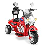 Best Choice Products 12V Kids Ride-On Motorcycle Chopper w/ Built-in Music, MP3 Plug-in - Red (Color: Red)