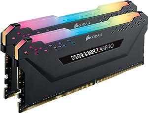 CORSAIR Vengeance RGB PRO 16GB (2x8GB) DDR4 3200MHz C16 LED Desktop Memory - Black (Color: RGB PRO - Black, Tamaño: (2x8GB))