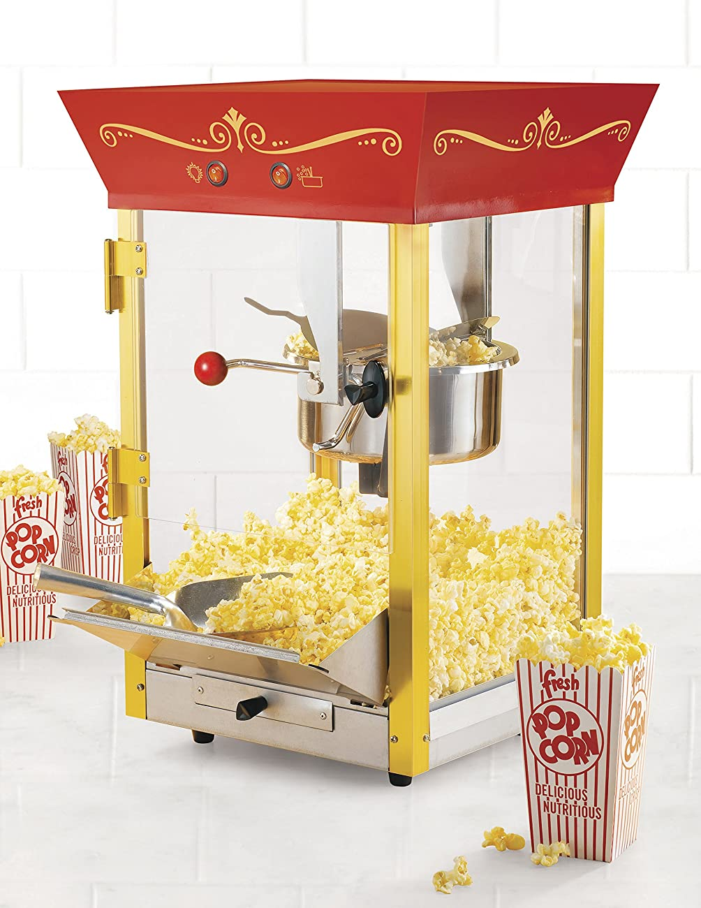 Nostalgia CCP610 59-Inch Tall Vintage Collection 8-Ounce Kettle Popcorn & Concession Cart 3