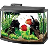 Aqueon Deluxe LED Bow Front Aquarium Kit Black 36 Gallon (Tamaño: 36 Gallon)