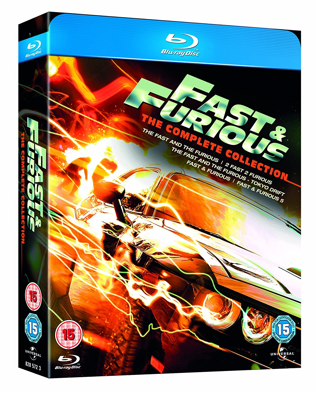 blu ray movie the fast and the furious 1 5 box set all regions ebay. Black Bedroom Furniture Sets. Home Design Ideas