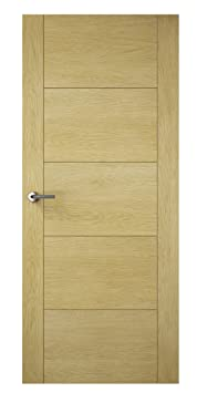 Premdor 82521 686 x 1981 x 44 mm Milano Solid Fully Finished FD30 Interior Fire Door - Oak
