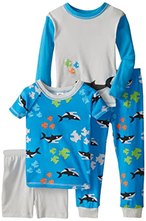 Gerber Little Boys' 4 Piece Cotton Pajamas