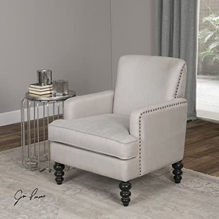 The Uttermost Flannan White Textured Armchair