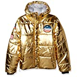 Champion Men's Puffer, Metallic/Gold, X-Large (Color: Metallic/Gold, Tamaño: X-Large)