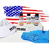 Red White & Blue, Patriot Firearm Paint Bundle 3 Colors, Oven Cure, by MSI, 16 items: 45ml Ceramic Paint, Catalyst, Strainer, Gloves, Hanging hook, instructions, link to MSI Video. Factory Warranty. (Color: Red, White & Blue)