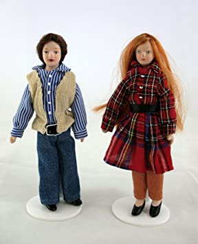 Accessoire Maison Miniature Figurine Couple Homme + Femme 312