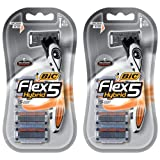 BIC Flex 5 Hybrid Razor, 4 Count, Pack of 2