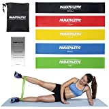 Resistance Loop Bands / Exercise Bands / Fitness Bands, Set of 5, with Exercise Guide – 5x power body band, workout bands for yoga, rehab, crossfit, strength training, pilates, calisthenics