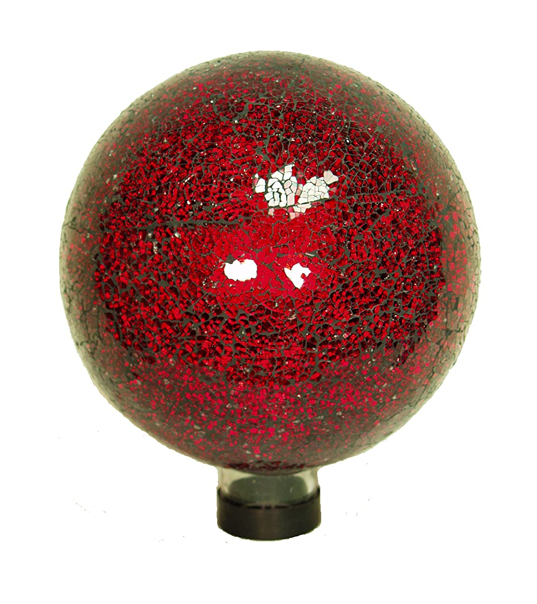 Echo Valley 8197 10-Inch Mosaic Glass Gazing Globe, Red