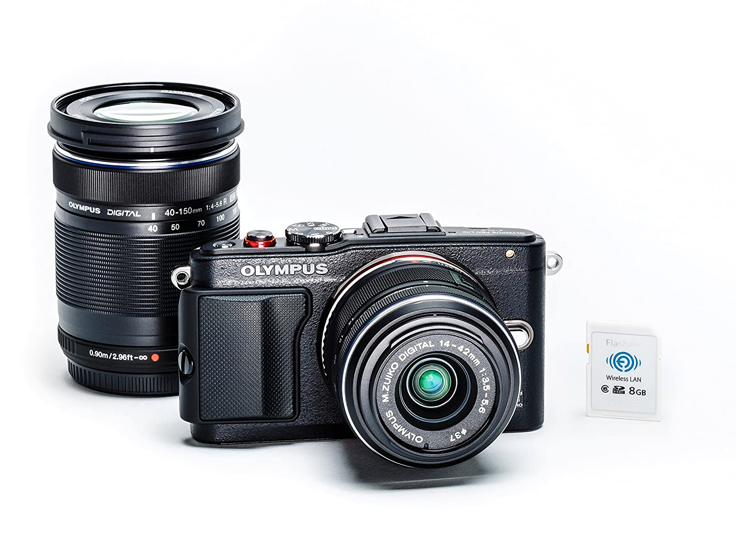 Olympus E-PL6 Two Lens Kit (Black)
