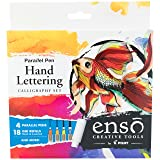 PILOT Enso Parallel Pen Kit  with Extra 6 Pack Black Refills (FP3-001-KTAZ) (Color: Black and Assorted Colors)