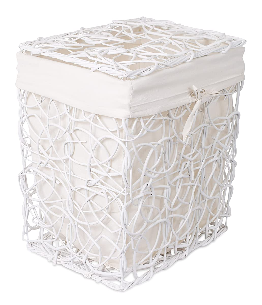Birdrock Home Decorative Willow Laundry Hamper With Liner