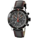 Tissot Men's T0674172605100 PRS 200 Black Chronograph Dial Watch (Color: Black)