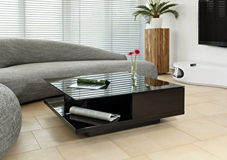 AC Design Furniture - Mesa de centro, color negro