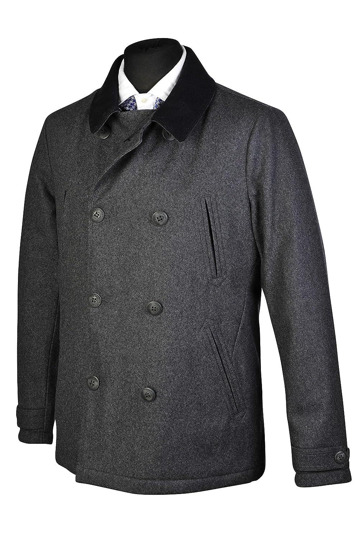 Woolrich Jacke Schlicht Mantel Herbst Winter Grau Wolle Größe L günstig kaufen
