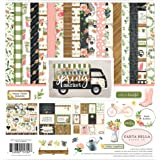 Carta Bella Paper Company Spring Market Collection Kit (Color: Blue, Pink, Green, Brown, Tamaño: 12-x-12-Inch)