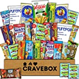 CraveBox - Healthy Snacks Care Package (30 Count) - Variety Assortment Bundle Box, Granola Bars, Popcorn, Snack Gift, Offices, College Students, Semester Spring Final Exams, Girls, Boys, Easter Sunday (Tamaño: 30 Pack)