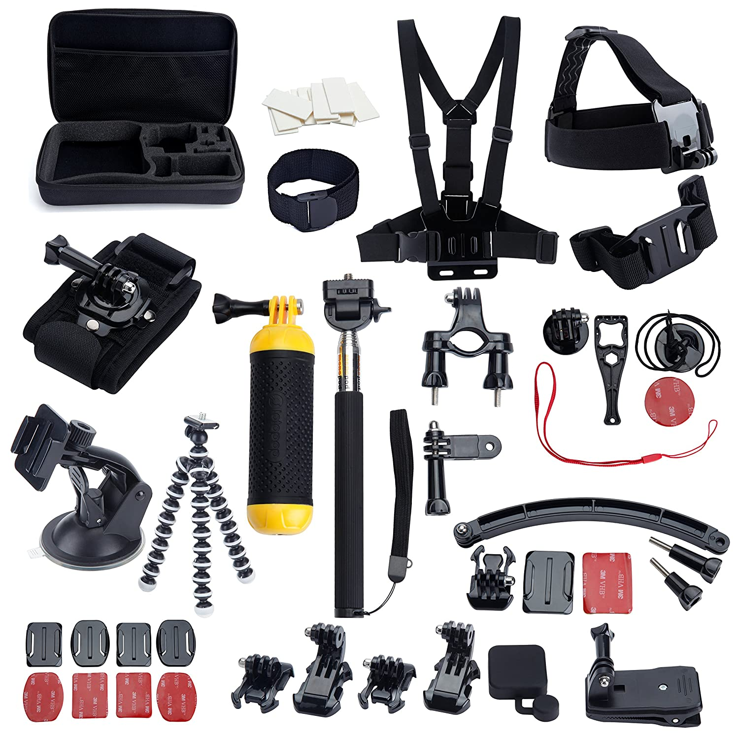 MCOCEAN Accessories Great Kit Bundle for Gopro Hero 4 Go pro Hero 3+ Hero 3 Camera for Outdoor Sports Swimming Rowing Surfing Climbing Running Bike Riding Camping Diving Outing etc.