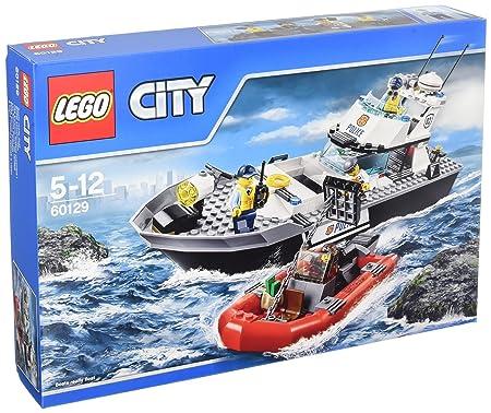 LEGO - 60129 - City - Jeu de construction  - Le Bateau de Patrouille de la Police
