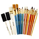 All Purpose Paint Brush Value Pack - Great with Acrylic, Oil, Watercolor, Gouache (25 Brushes) (Color: 25 Brushes)