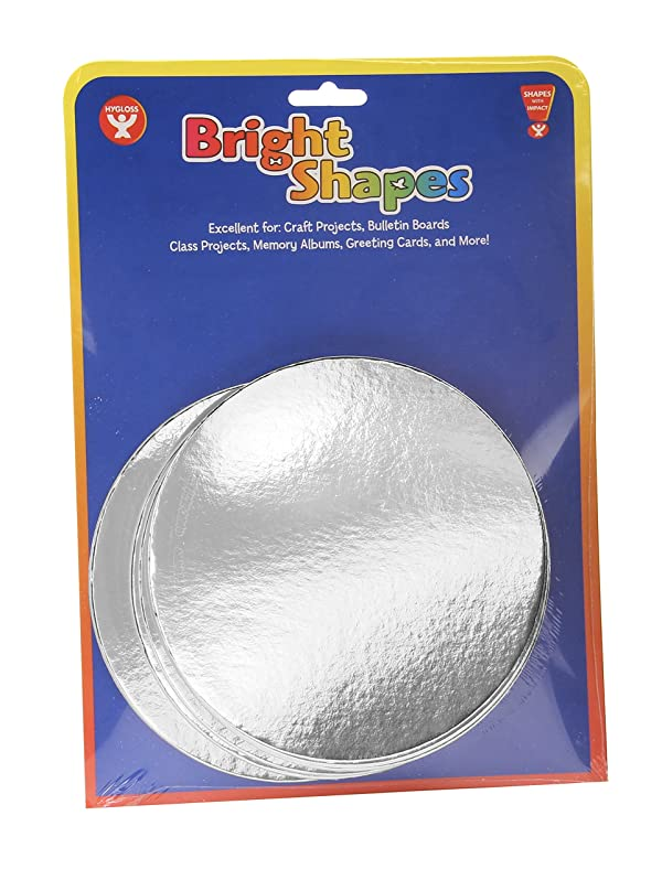 Hygloss Products Mirror Board Circles - Silver, Shiny Metallic Mirror Cardstock - 5 Inches, 25 Pack