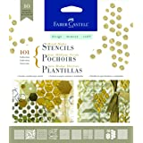 Faber-Castell Mixed Media Paper Stencils - 101 Collection - 10 Reusable Graphic Stencils (Color: 101 - Graphic)