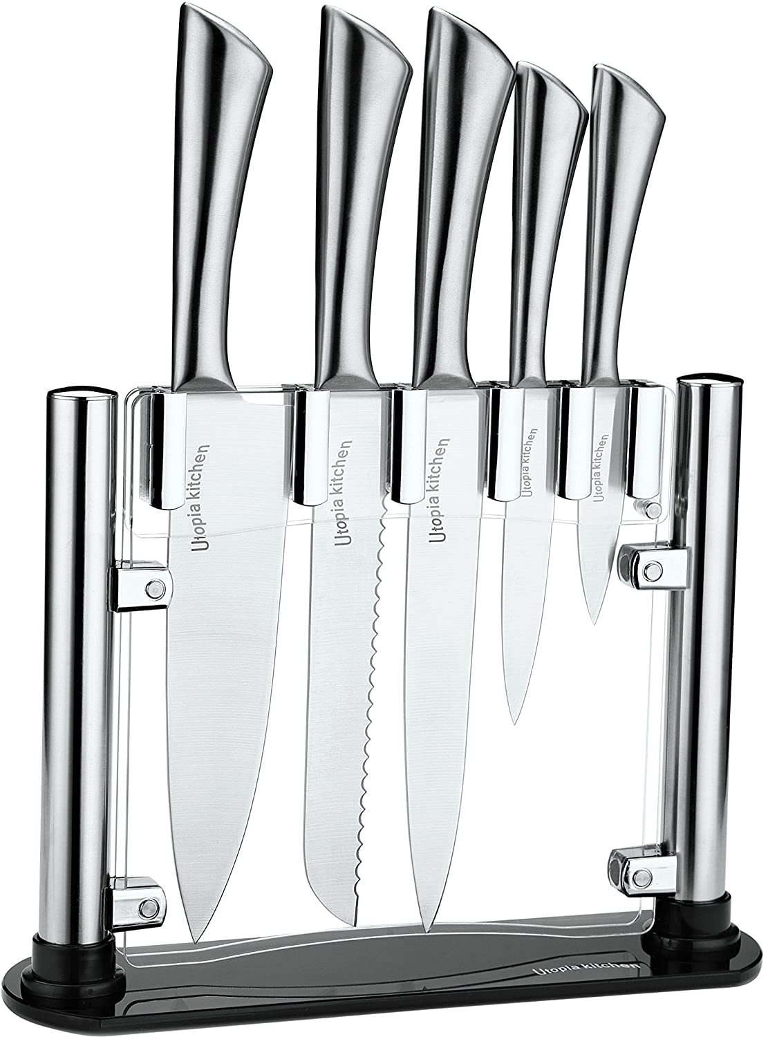 utopia kitchen 6 piece best kitchen knife set durable