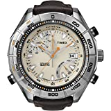 Timex Men's T2N728 Intelligent Quartz Adventure Series Altimeter Brown Leather Strap Watch