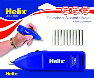 Helix Automatic Battery Powered Eraser (19060) (Color: Black, Tamaño: 1 PACK)