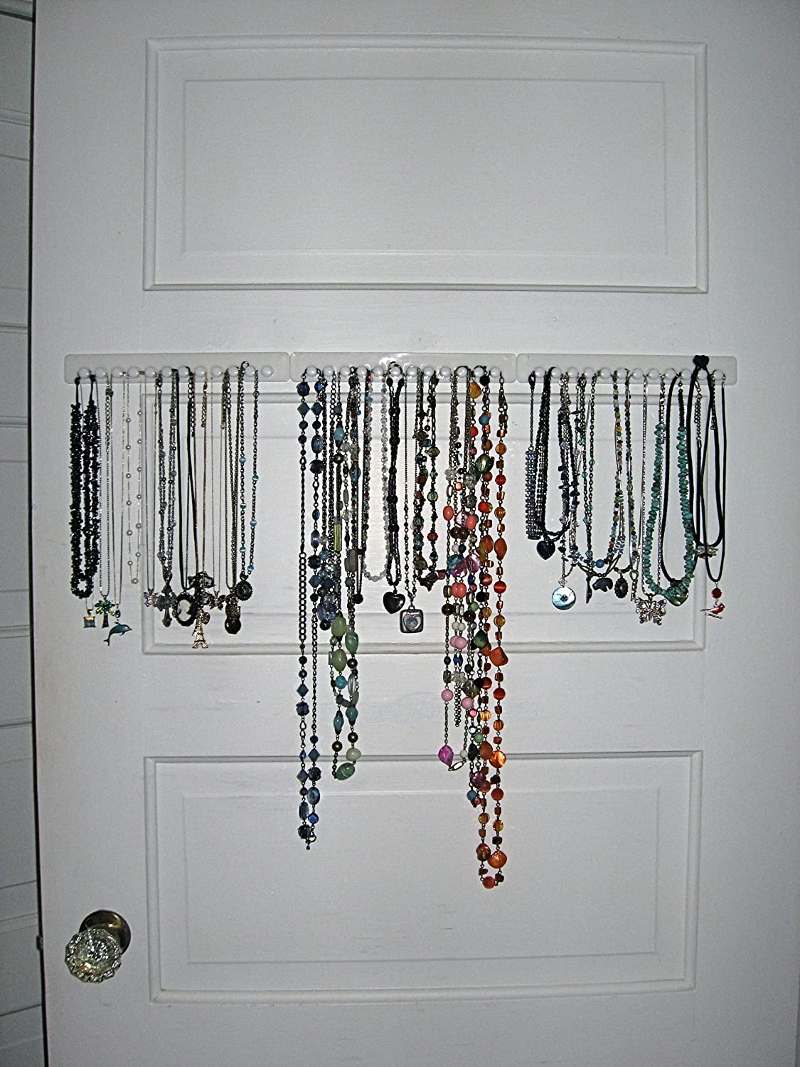Adhesive Hanging Storage Organizer Necklace