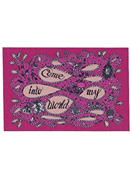 my life is sweet tapis tapis d 39 entree paillasson come into my my world pas cher fushia. Black Bedroom Furniture Sets. Home Design Ideas