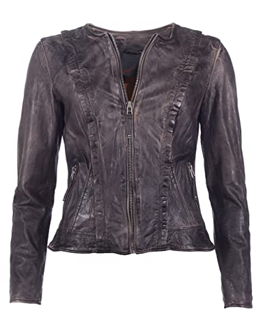 JCC Absurd Lederjacke, Damen AS16B-L28 (anthrazit)