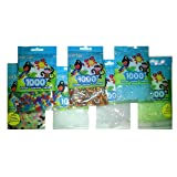 Perler Bead Bag, 7 Pack Group (Clear, Clear Blue, Clear Glitter, Glitter Mix, Glow Mix, Glow Green, Metalic Mix) (Color: Clear, Clear Blue, Clear Glitter, Glitter Mix, Glow Mix, Glow Green, Metalic Mix, Tamaño: 5mm)