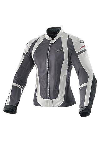 Clover 99177751_ 03AirJet-3Veste de moto pour femme, noir/blanc, Taille M