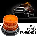 Amber led Light, Dinfu Emergency Powerful Magnetic Flashing Warning Beacon for Truck Ship Yacht Vehicle School Bus (Color: Led Light)