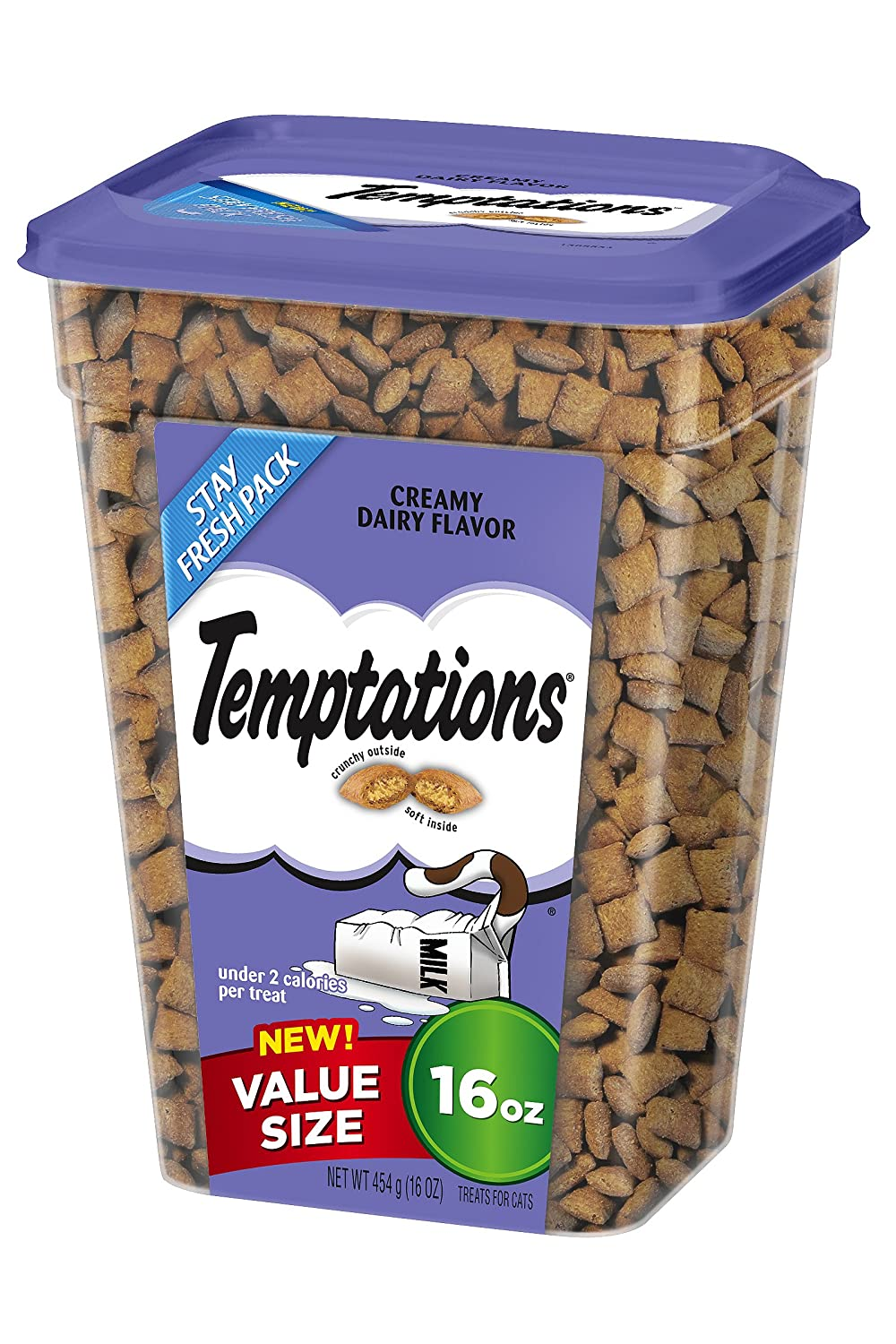 Temptations Creamy Dairy Flavor Treats for Cats, 16-Ounce whiskas temptations hearty beef flavour treats for cats