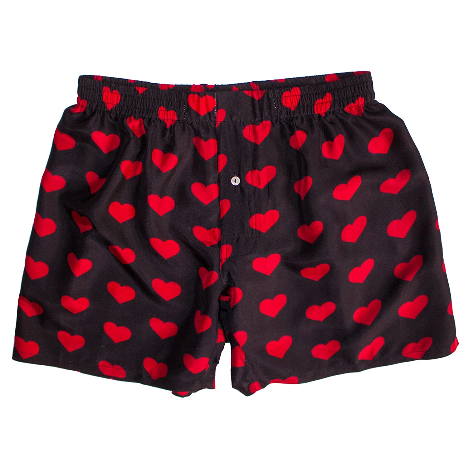 I Heart Mens Boxers Silk Heart Boxers by ROYAL