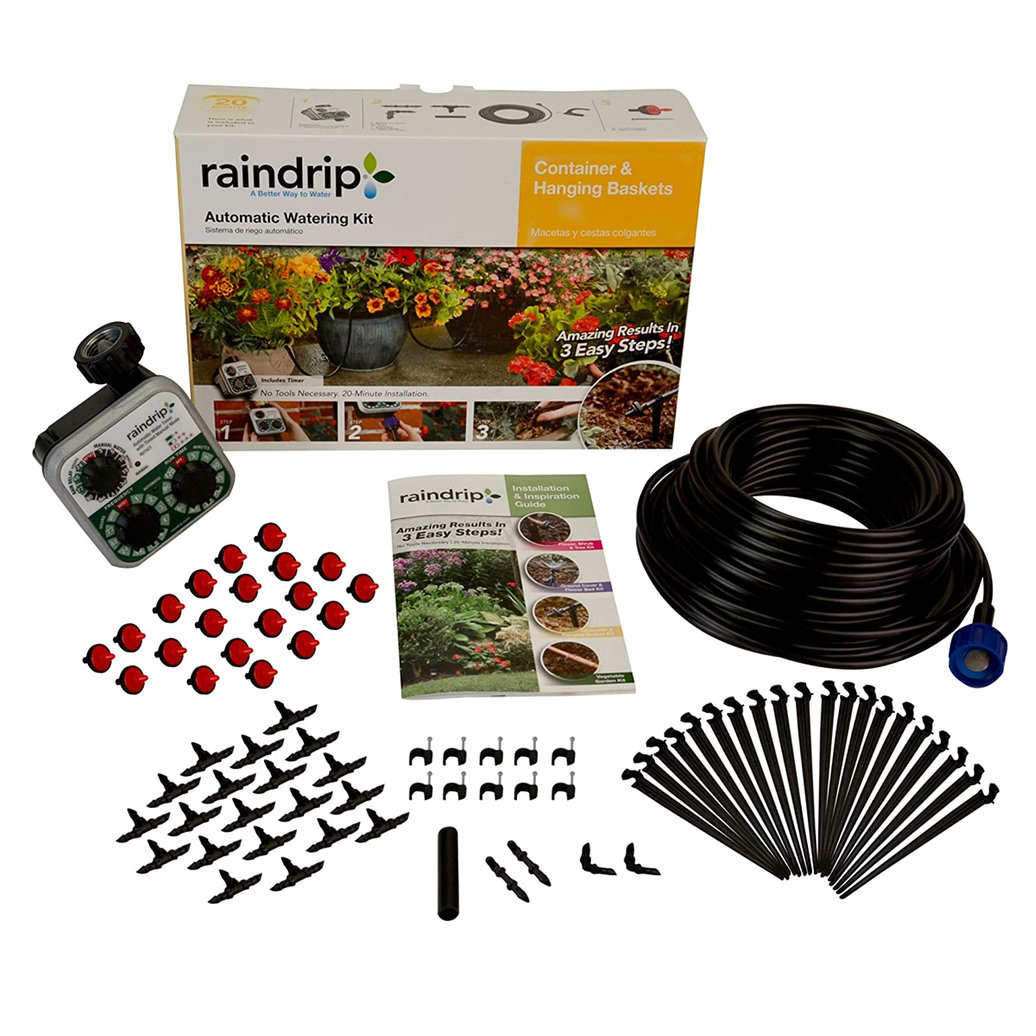 Patio And Potted Plant Drip Irrigation Kit: Raindrip Drip Irrigation Plants Garden Hose Timer