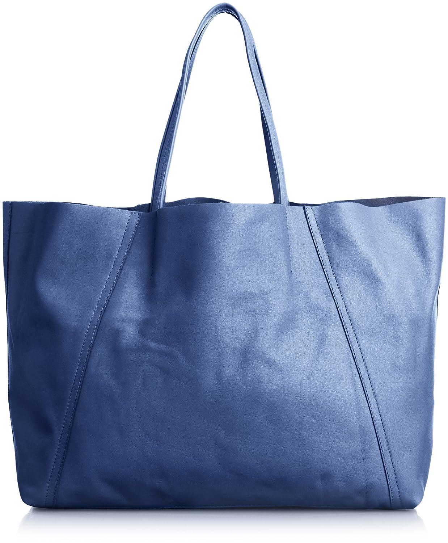 Amazon.co.jp: [ジャンニキアリーニ] GIANNI CHIARINI 1枚牛革同色縦切り替えトートバッグ 3681SERE OCEAN (OCEAN): シューズ&バッグ:通販