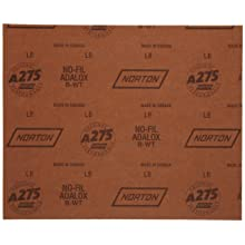 Norton A275 No-Fil Adalox Abrasive Sheet,  Paper Backing, Aluminum Oxide, Waterproof