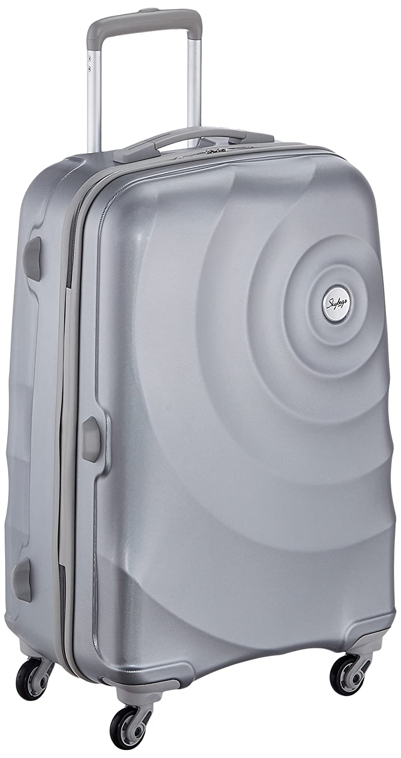 Skybags Polycarbonate 67 cms Silver Hardside Suitcases (FLINT67SMS)