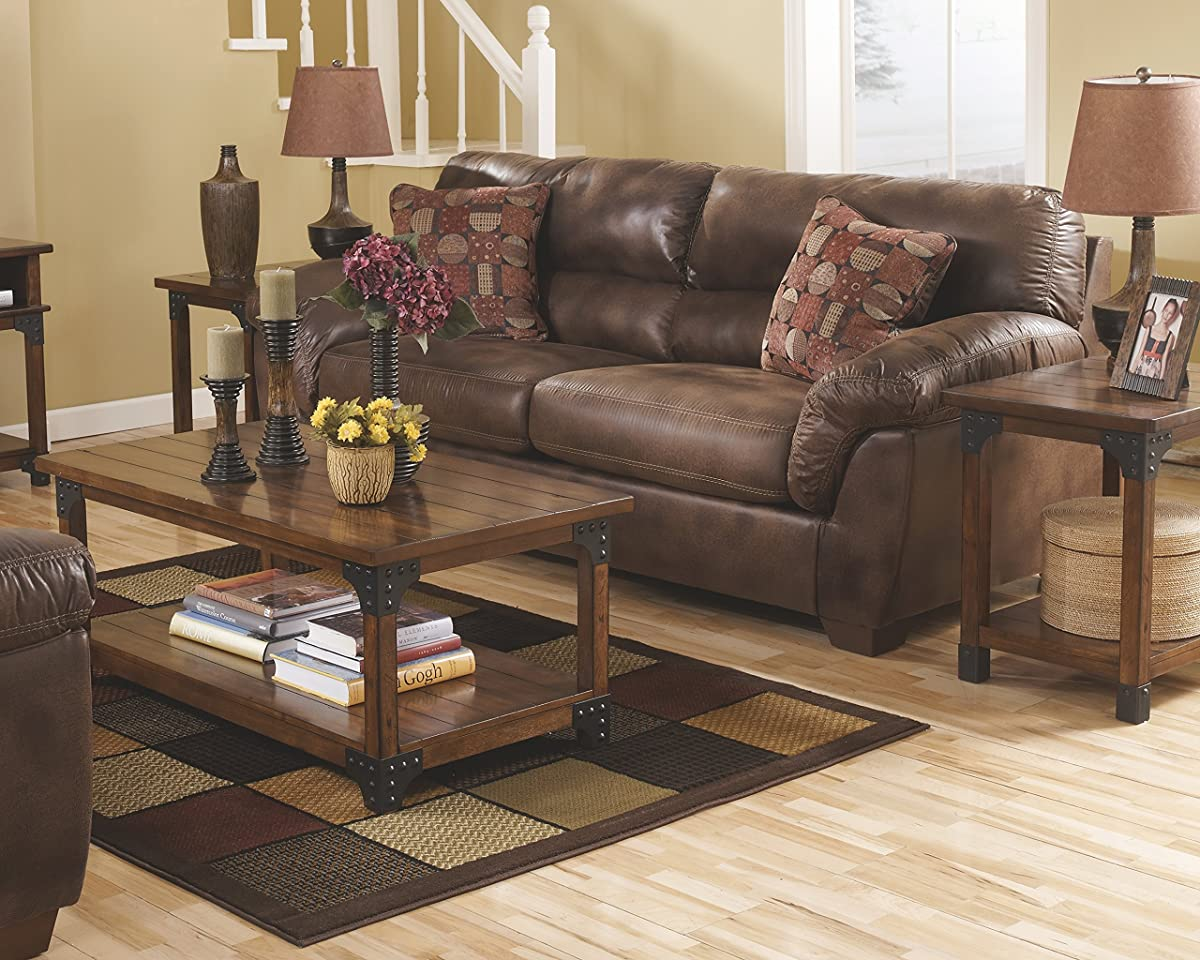 Ashley Furniture Signature Design - Murphy 3 Piece Occasional Table Set, Medium Brown
