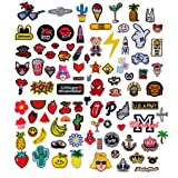 Efivs Arts 50pcs Mixed Random Iron-on Sew-on Patches Applique Accessories Hand Embroidered Patches Set DIY Accessory