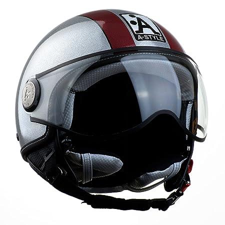 A-style 0200330XS casque jet argenté/pailleté